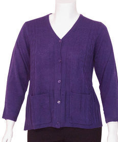 Ladies Adaptive Open Back Summer Weight Cardigan Sweater With Pockets - Adaptive Clothing Canada