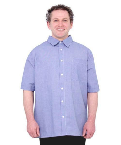 Adaptive Men's Shirt - Open Back Snap  - Wrap Back - Adaptive Clothing Canada