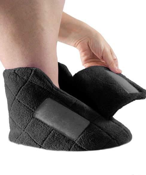 Extra Wide Swollen Feet Slippers - Soft Cozy Comfortable - Adaptive Clothing Canada