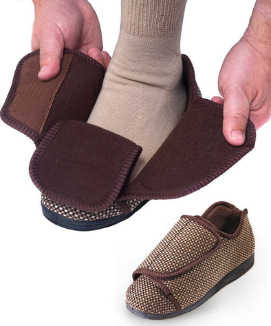 Mens Extra Extra Wide Slippers - Adaptive Clothing Canada
