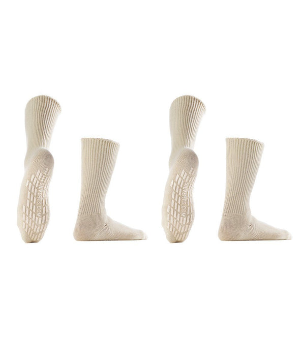 Women & Men's Diabetic Non Skid Hospital Socks - 2 Pack Savings - - Adaptive Clothing Canada