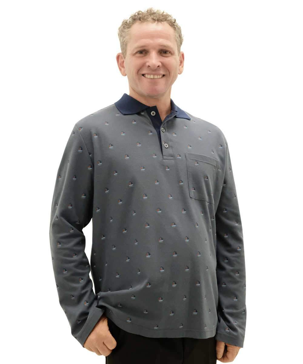 d03e1760f Adaptive Men s Open Back Long Sleeve Polo Shirts - Fits Up To 4 XL – Adaptive  Clothing Canada