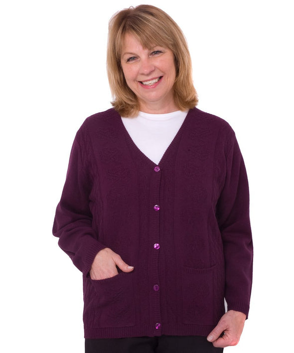Adaptive Warm Cardigan Sweater With Pockets - Color, Style And Warmth - Adaptive Clothing Canada