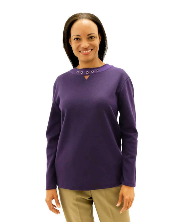 Open Back Adaptive Top For Women - Grommet-Framed Top For Disabled Adults - Adaptive Clothing Canada