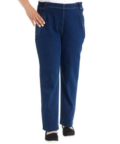 Easy Access Zipper Front Jeans By Designer Izzy Camilleri - Soft Stretchable Denim Jean - Adaptive Clothing Canada