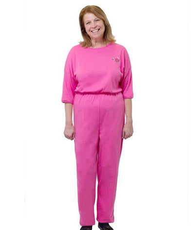 Women's Adaptive Alzheimer's Anti Strip Jumpsuits - Back Zip One Piece - Adaptive Clothing Canada