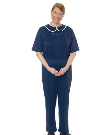 Women's Adaptive Alzheimers Clothing Anti Strip Suit Jumpsuit - Adaptive Clothing Canada