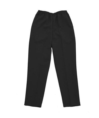 Women's Elastic Waist Polyester Pull On 2 Pocket Slacks - For Arthritis - Adaptive Clothing Canada