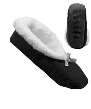 Women's Extra Wide Slip-Resistant Fleece Slippers - Adaptive Clothing Canada