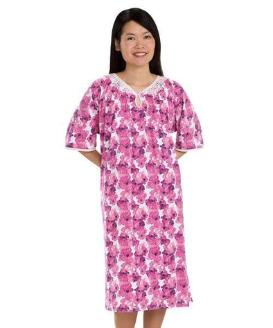 Adaptive Open Back Hospital Patient Gowns/Nightgown For Women - Adaptive Clothing Canada