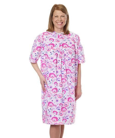 Open Back Women's Pretty Cotton Hospital Patient Gowns - Adaptive Clothing Canada