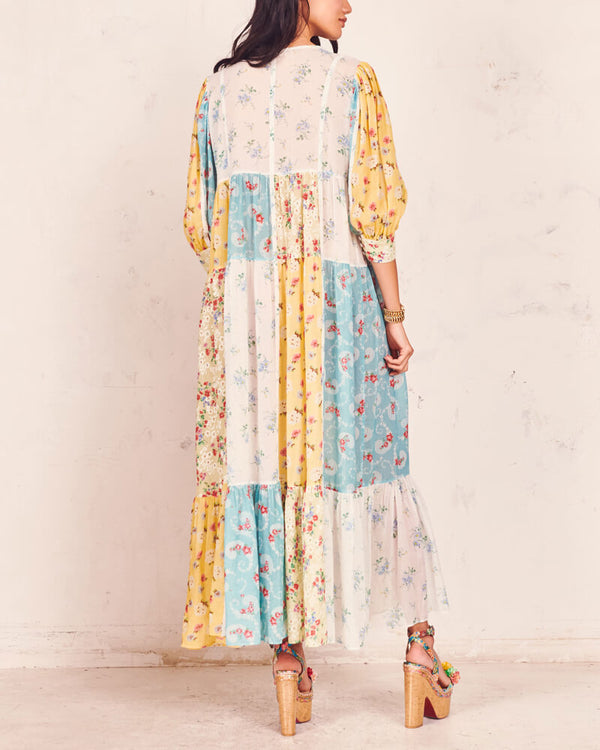 Bad Decisions Patchwork Maxi Floral Dress | Flirtyfull.com