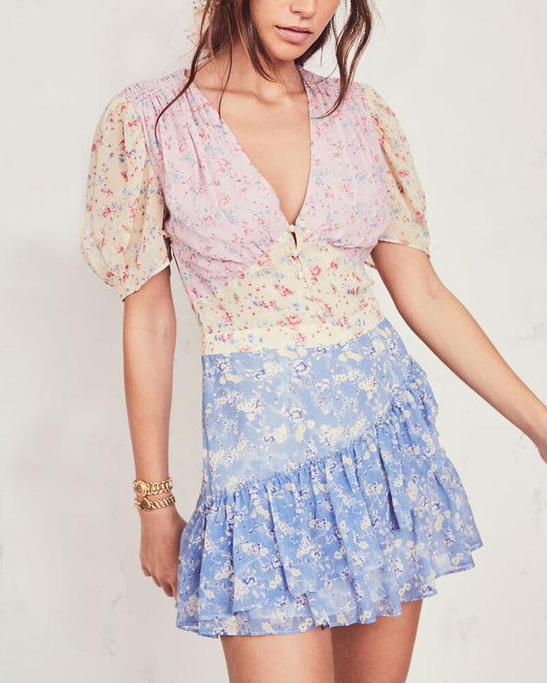 Beby Floral Patchwork Dress | Flirtyfull.com
