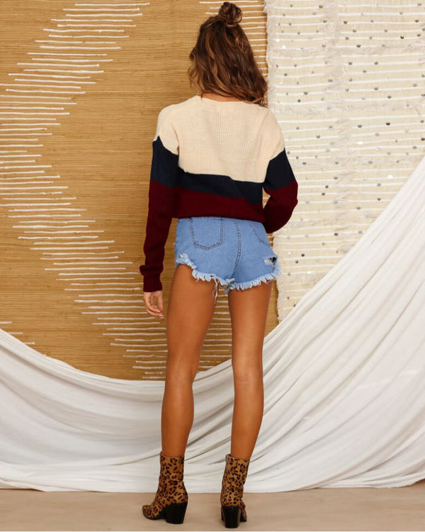Bieber Color Block Sweater - Multicolor | Flirtyfull.com