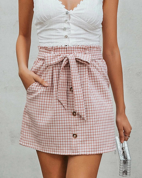 Dalton English Plaid Mini Skirt | Flirtyfull.com