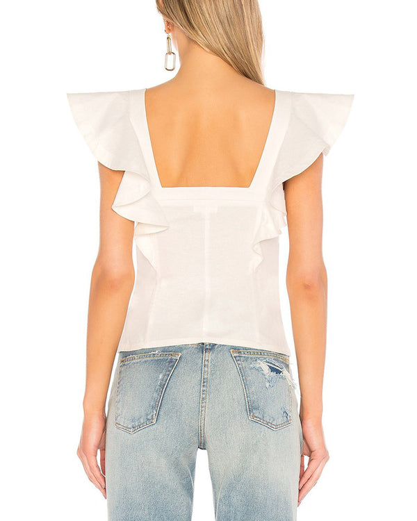 All ABout Mary Casual Summer Blouse - White | Flirtyfull.com