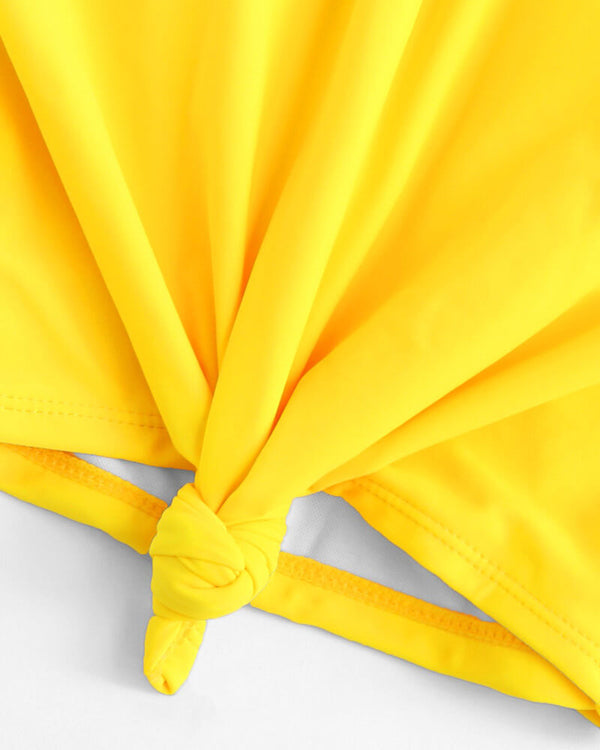 Aurora Two Pieces Bikini Set - Yellow | Flirtyfull.com