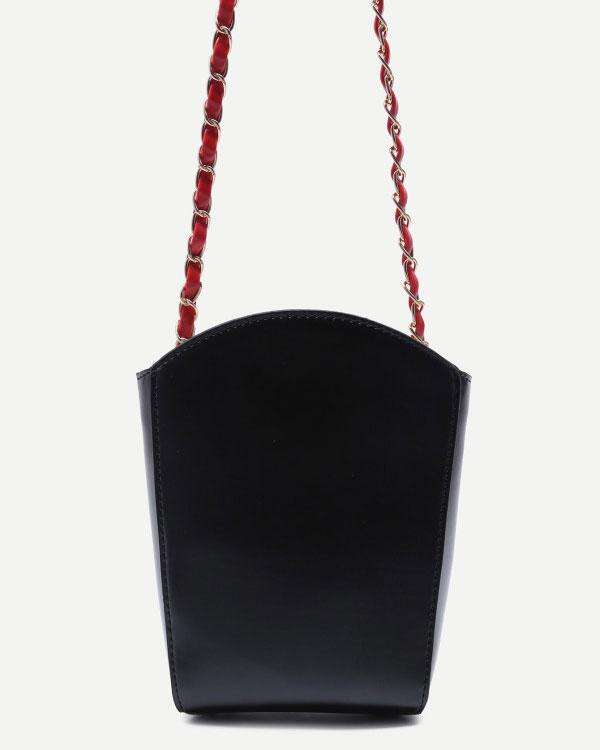 French Fries Box Shape Crossbody Kawaii Bag - Black | Flirtyfull.com