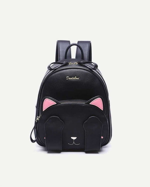 Peekaboo Cat Kawaii Backpack - Black | Flirtyfull.com