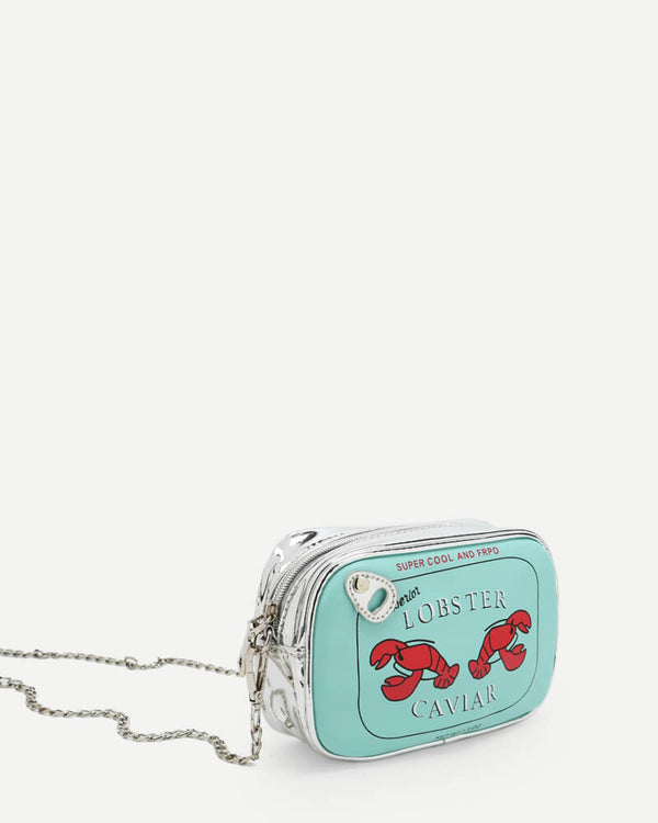 Canned Lobster Novelty Crossbody Bag - Blue | Flirtyfull.com