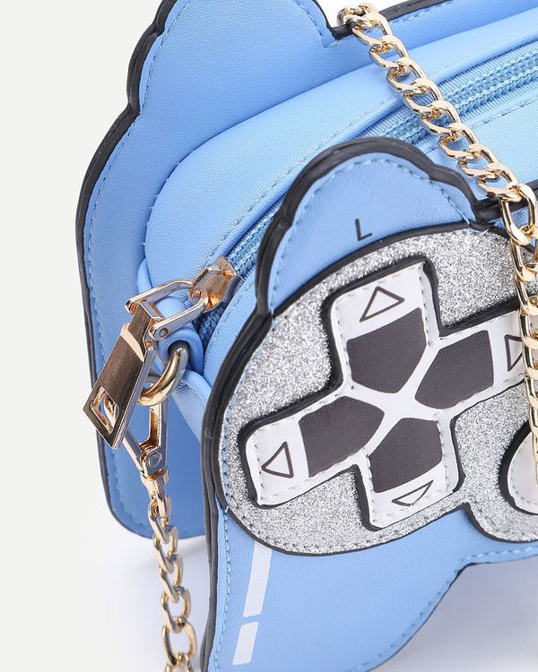 Videogame Shape Novelty Bag - Blue | Flirtyfull.com