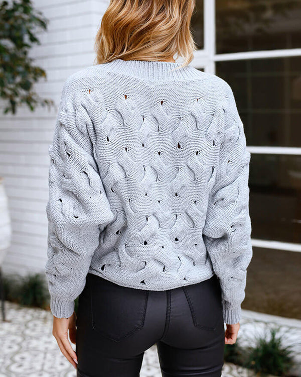 Capadoccia Chain Knitted Sweater - Grey | Flirtyfull.com