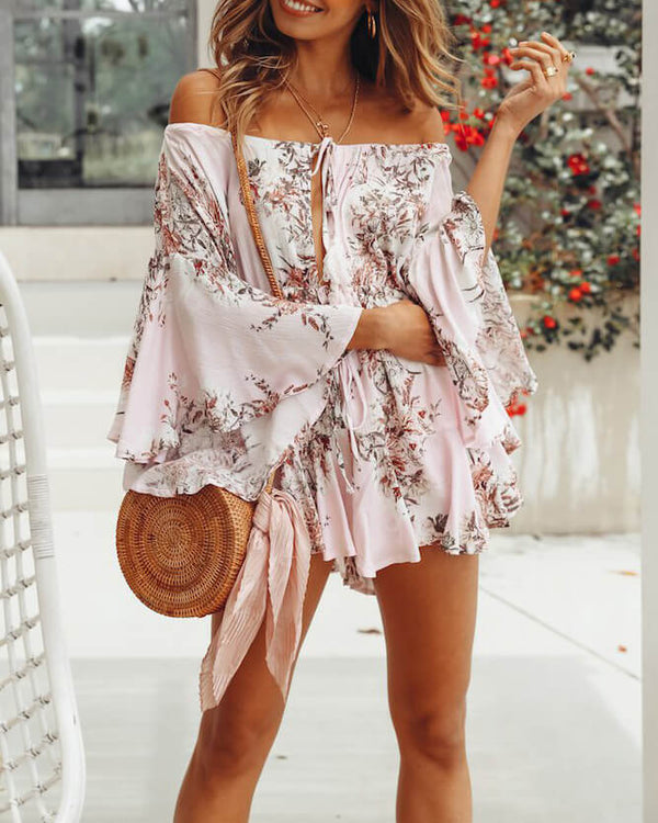 Catch & Release Loose Playsuit - Floral Pink | Flirtyfull.com