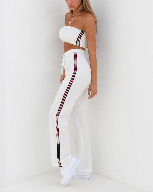 Forever Young Sporty Two Piece Set - White | Flirtyfull.com
