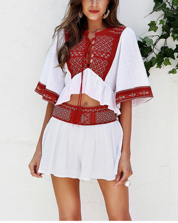 Frida Boho Ethnic Two Piece Set | Flirtyfull.com