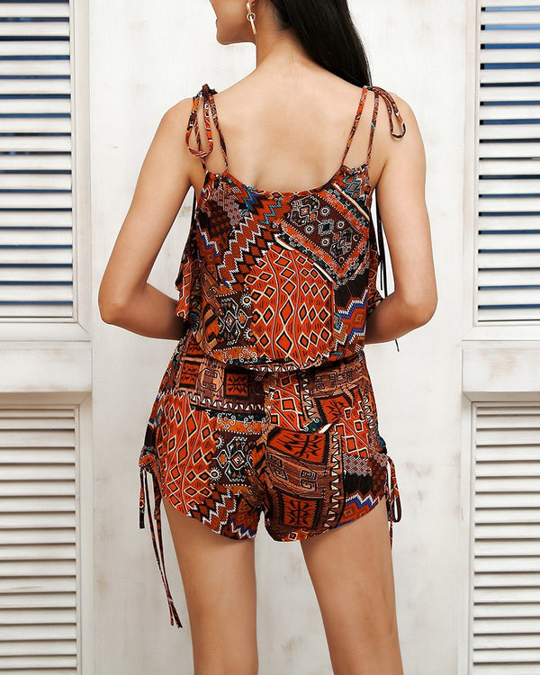 Gimme More Tribal Print Two Pieces Set | Flirtyfull.com