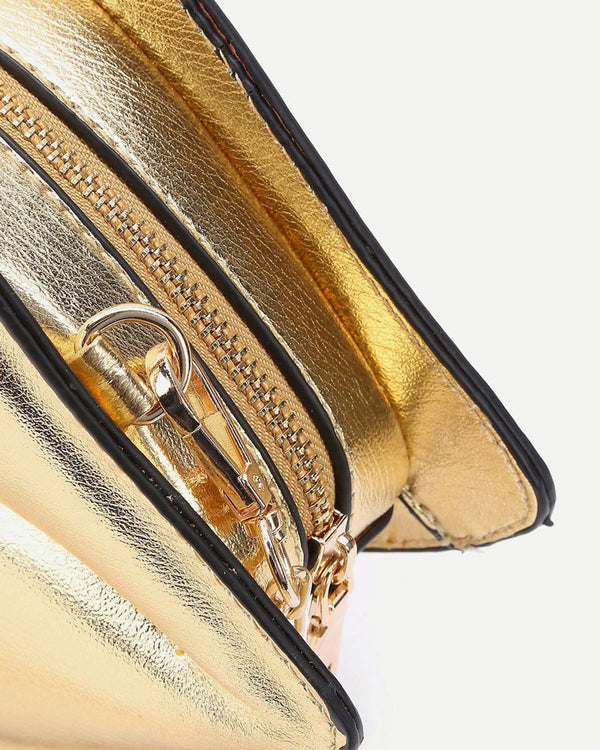 Lips Shape Crossbody Novelty Bag - Gold | Flirtyfull.com