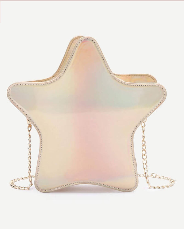 Star Shape Crossbody Kawaii Bag - Gold | Flirtyfull.com