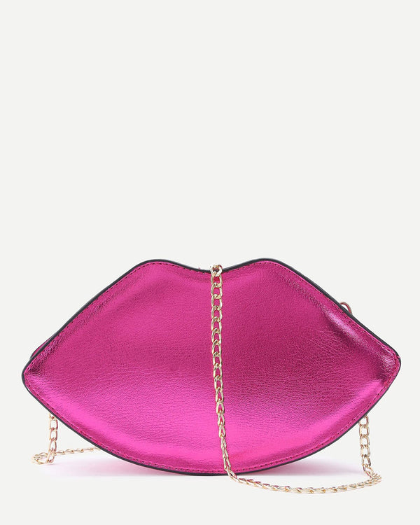Lips Shape Crossbody Novelty Bag - Hot Pink | Flirtyfull.com