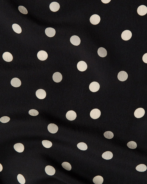 I Kissed a Girl Polka Dot Blouse - Black | Flirtyfull.com
