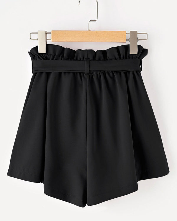 Julie High Waisted Shorts - Black | Flirtyfull.com