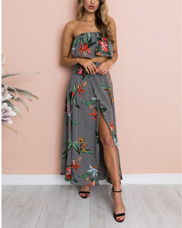 Keep It Mello Floral Two Pieces Set | Flirtyfull.com