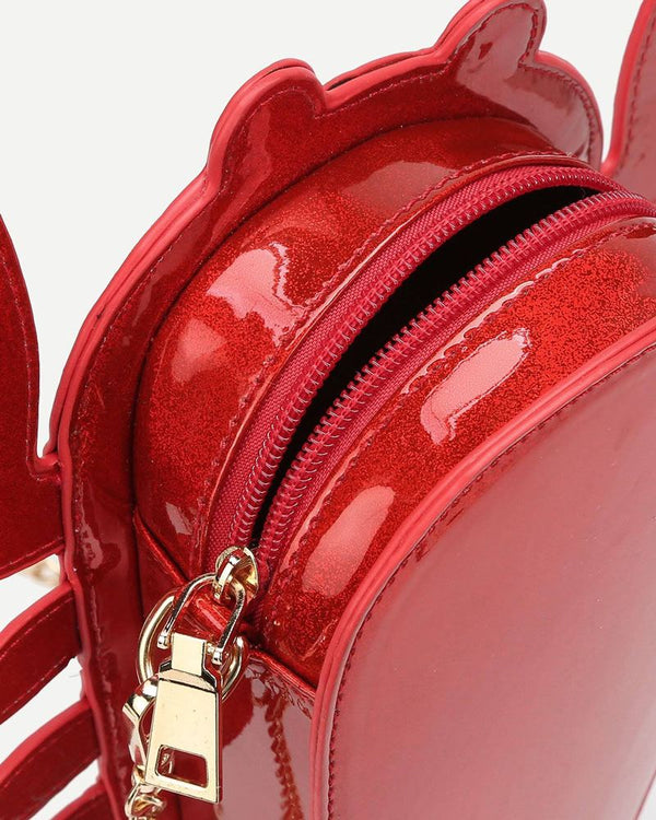 Lobster Novelty Crossbody Bag - Red | Flirtyfull.com