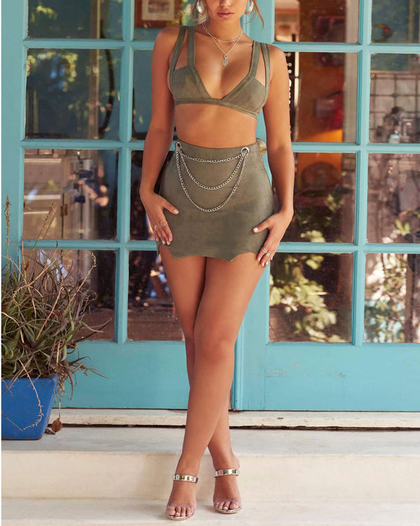 Make a Memory Two Pieces Set - Army Green | Flirtyfull.com