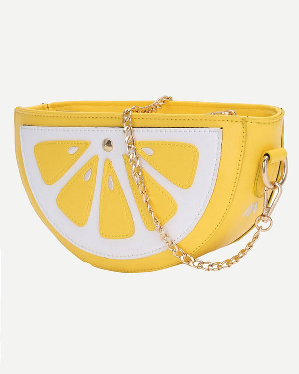 Mini Lemon Slide Crossbody Novelty Bag | Flirtyfull.com