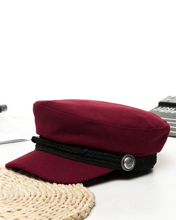 Mulberry Baker's Boy Wool Winter Cap | Flirtyfull.com