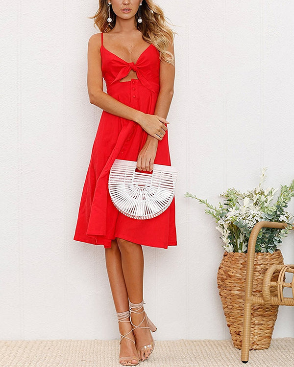 Over the Rainbow Cut Out Dress - Red | Flirtyfull.com