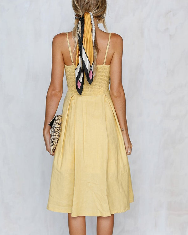 Over the Rainbow Cut Out Dress - Yellow | Flirtyfull.com