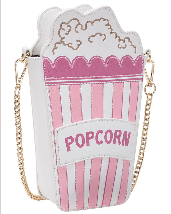 Flirtyfull Pink Popcorn Paper Box Kawaii Crossbody Bag