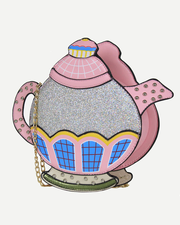 Flirtyfull Pink Teapot Shape Crossbody Shoulder Harajuku Kawaii Bag