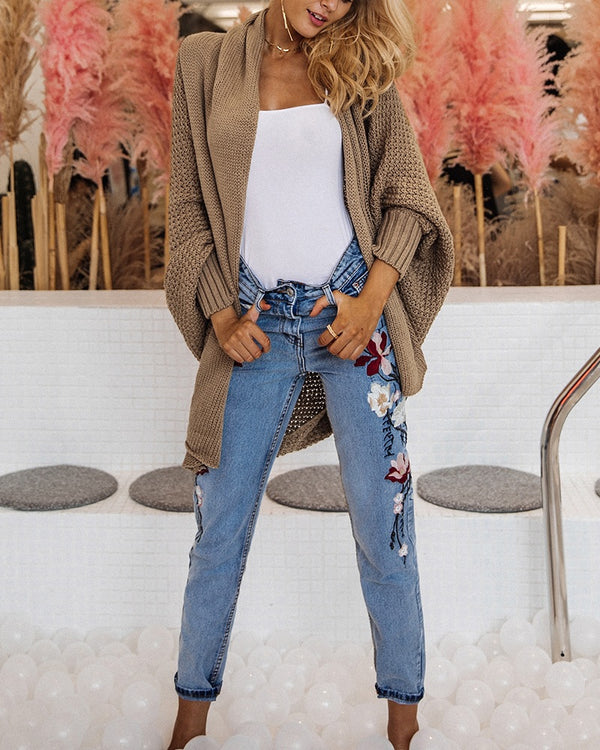 Ready for it Knitted Oversized Cardigan - Brown | Flirtyfull.com