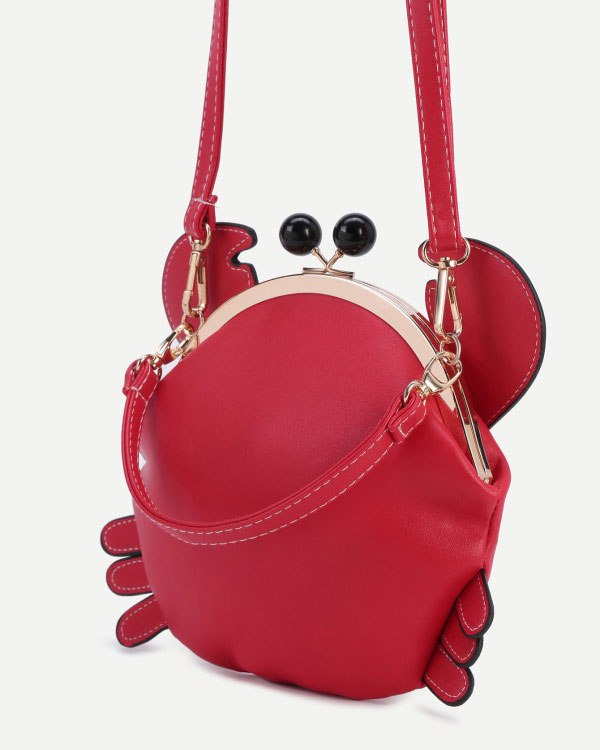 Crab Crossbody Shoulder Harajuku Kawaii Purse - Red | Flirtyfull.com