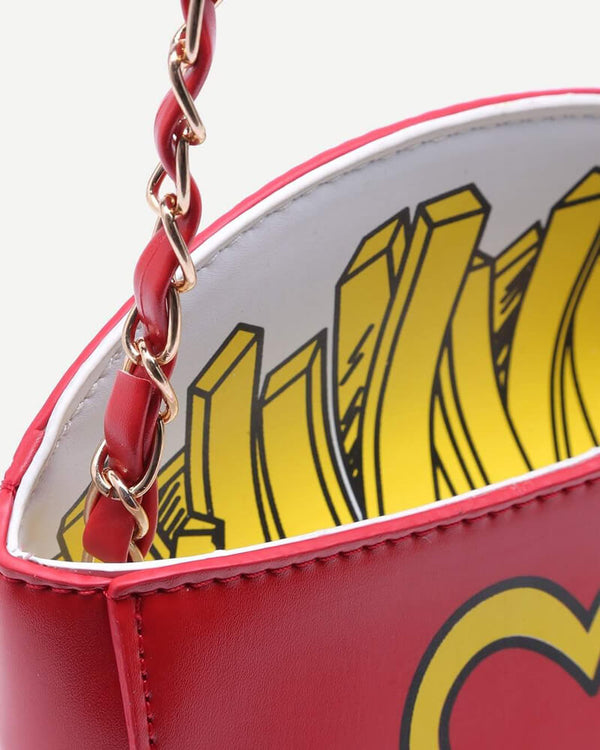 French Fries Box Crossbody Kawaii Bag - Red | Flirtyfull.com
