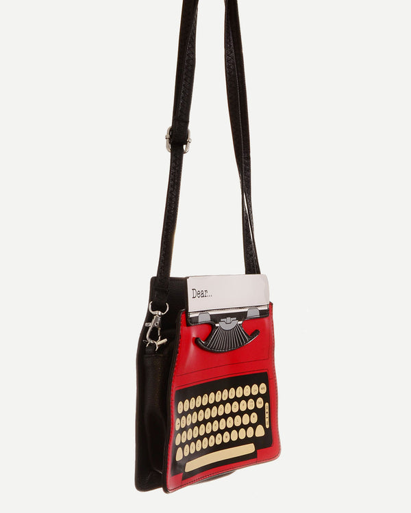 Typewriter Kawaii Crossbody Shoulder Bag - Red | Flirtyfull.com