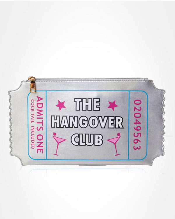 Club Party Ticket Clutch Novelty Bag - Silver | Flirtyfull.com