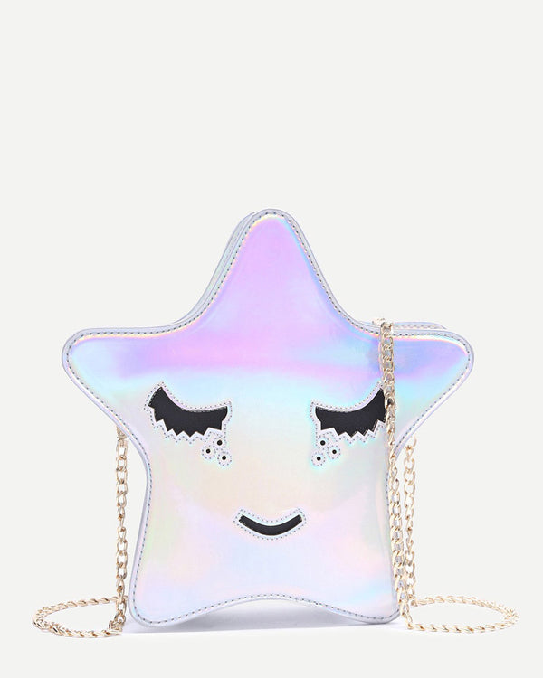 Star Shape Crossbody Messenger Kawaii Bag - Silver | Flirtyfull.com